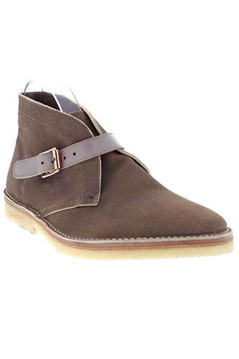 paul et smith boots homme de couleur beige
