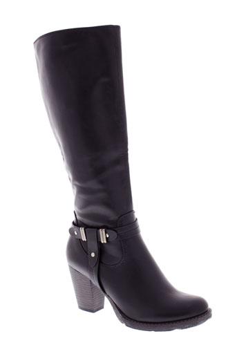 raxmax bottes femme de couleur noir