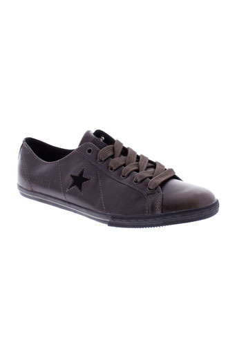 converse baskets homme de couleur marron
