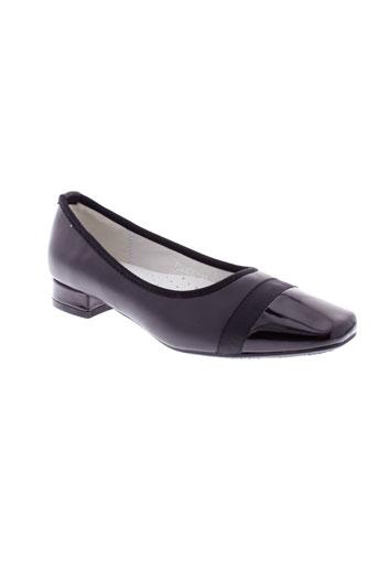 dazawa chaussures femme de couleur noir