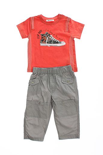 3 et pommes t et shirt et pantalon garcon de couleur orange (photo)