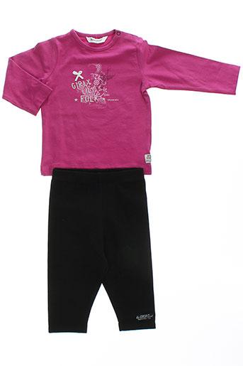 3 et pommes t et shirt et pantalon fille de couleur violet (photo)