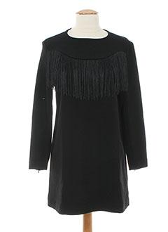 Robe mi-longue noir CUBIC pour femme