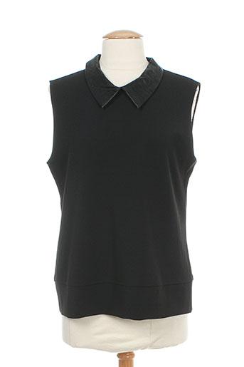 ryujee chemises femme de couleur noir
