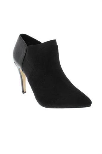 jus d'orange chaussures femme de couleur noir