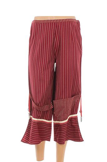 enjoy pantacourts femme de couleur rouge