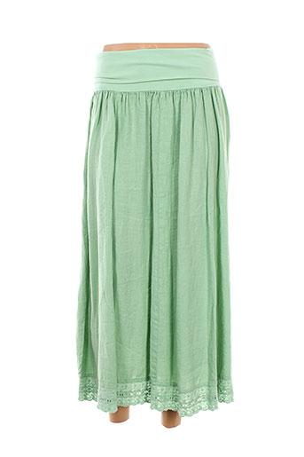 arthurio et lino jupes et longues femme de couleur vert