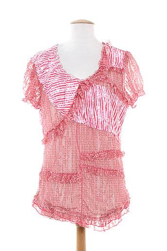 o.k.s chemises femme de couleur rose