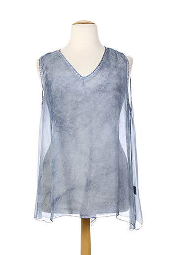 eleonora amadei chemises femme de couleur bleu