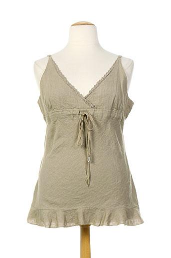 rivieres de lune chemises femme de couleur beige