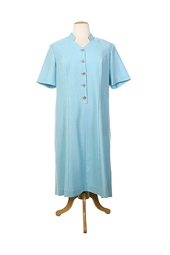 jean biolay robes femme de couleur bleu