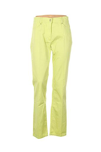 gelco pantalons femme de couleur vert
