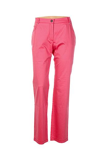 o.k.s pantalons femme de couleur rose