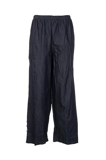 martine sam... pantalons femme de couleur bleu