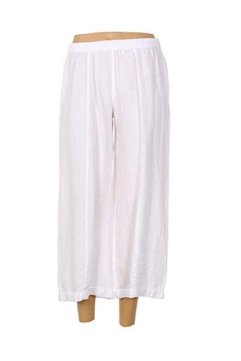 kokomarina pantalons femme de couleur blanc