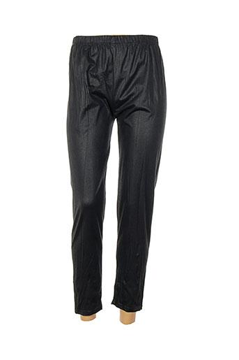 martine sam... pantalons femme de couleur noir