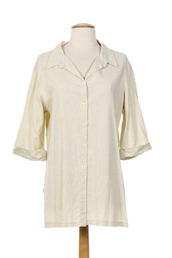 renatto bene chemises femme de couleur beige