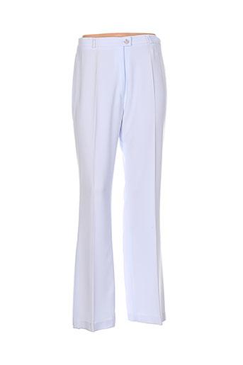 meja pantalons femme de couleur bleu
