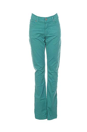 Pantalon casual vert BRIAN & NEPHEW pour fille