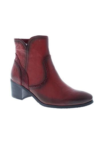 fugitive boots femme de couleur rouge