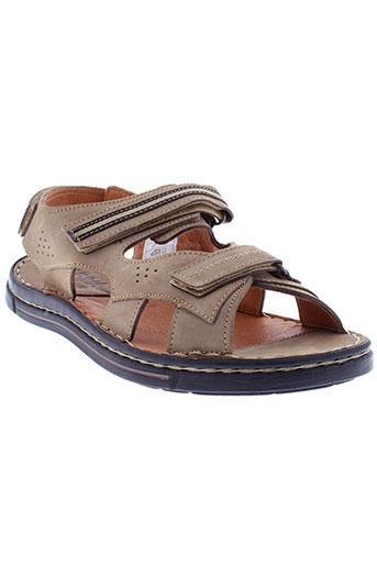 arima sandales et nu et pieds homme de couleur beige