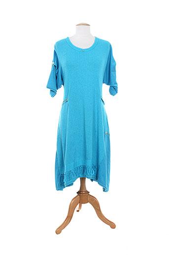 batistame tuniques femme de couleur bleu