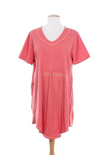 batistame t et shirts et tops femme de couleur rose