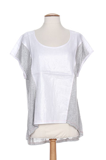 coleen bow chemises femme de couleur gris
