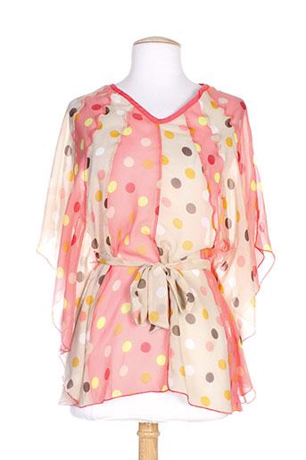 coleen bow t et shirts et tops femme de couleur rose