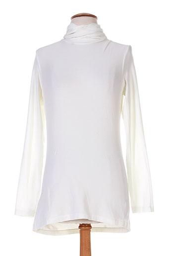european culture t-shirts femme de couleur blanc