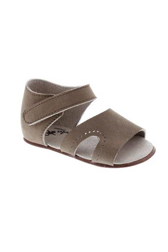 chupeta chaussures fille de couleur marron