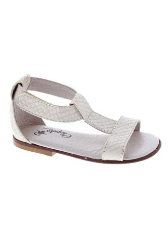 chupeta chaussures fille de couleur blanc