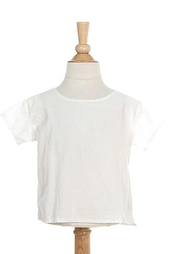 album di famiglia chemises fille de couleur blanc