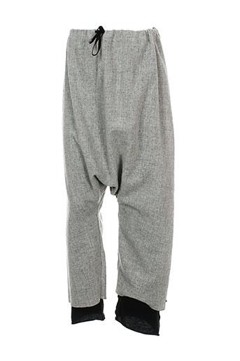 album di famiglia pantalons fille de couleur gris