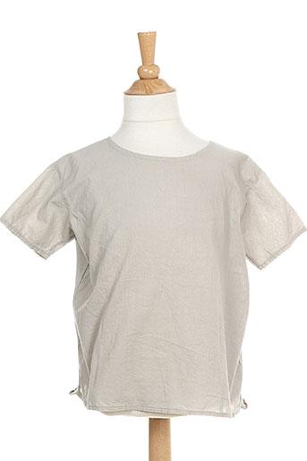 T-shirt manches courtes gris ALBUM DI FAMIGLIA pour fille