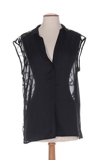 freesoul chemises femme de couleur noir