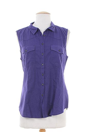 bensimon chemises femme de couleur violet