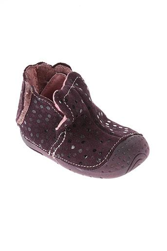 babybotte chaussures fille de couleur violet