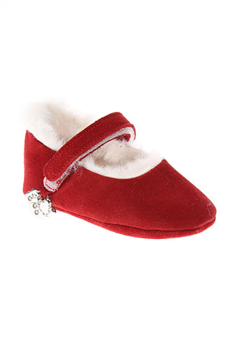 baby chick chaussures fille de couleur rouge