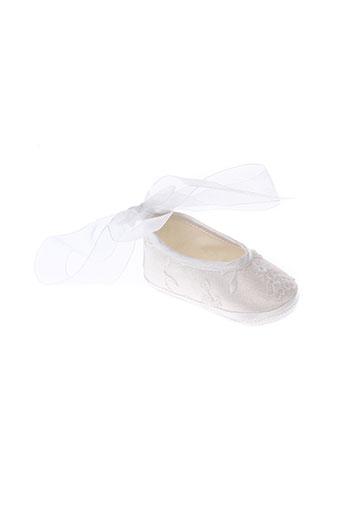 baby et chick chaussons fille de couleur blanc