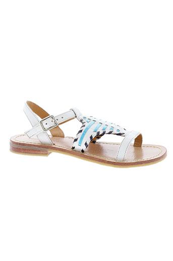mellow et yellow sandales et nu et pieds fille de couleur blanc