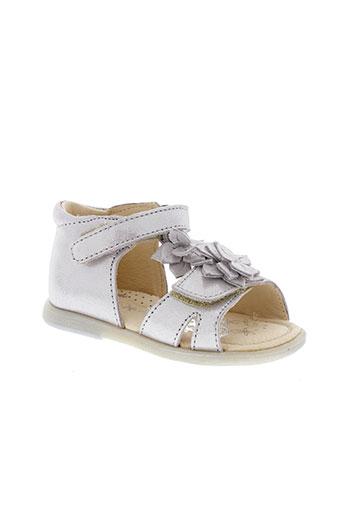 babybotte sandales et nu et pieds fille de couleur gris