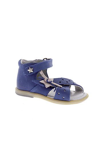 babybotte sandales et nu et pieds fille de couleur bleu