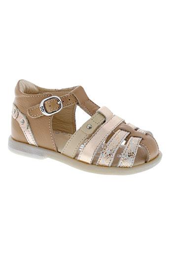 babybotte sandales et nu et pieds fille de couleur beige