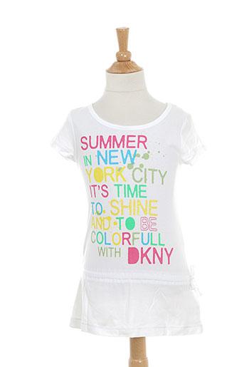 dkny robes fille de couleur blanc