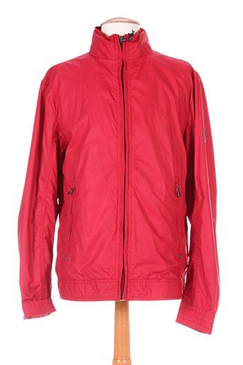 stones manteaux homme de couleur rouge