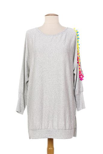kimi EFFI_CHAR_1 co t-shirts / tops femme de couleur gris