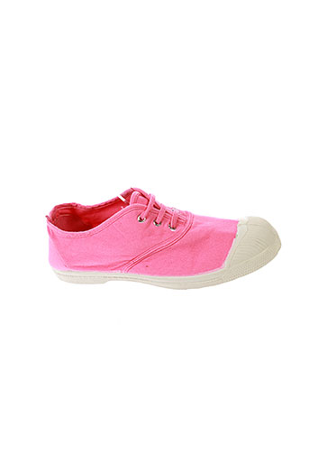 bensimon chaussures fille de couleur rose