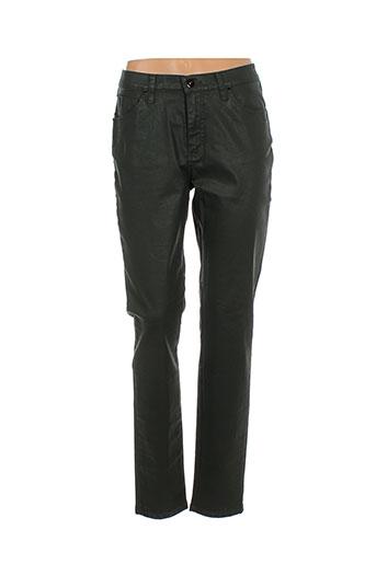 lcdn pantalons femme de couleur vert