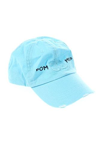3 et pommes casquettes garcon de couleur bleu (photo)